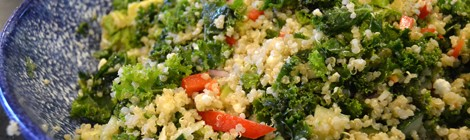 Kale Quinoa Salad with Lemon Dijon Vinaigrette