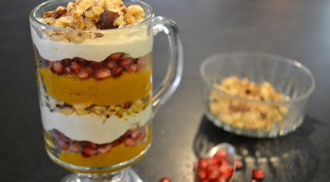 Pumpkin Parfait with Ginger Cashew Cream
