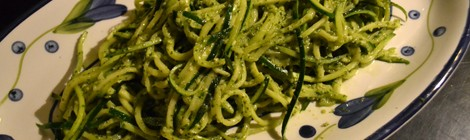 Zucchini Noodles with a Pesto Sauce
