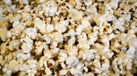 Coconut Popcorn with Parmesan Cheese
