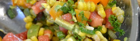 Corn Salad with Avocado and Tomato