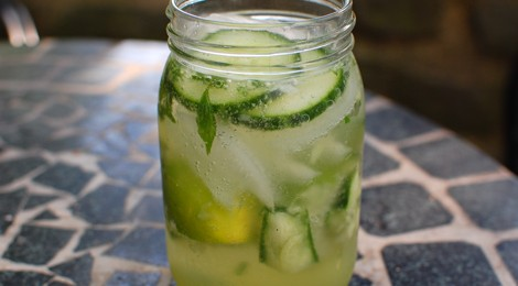 Cucumber Mojito with Basil Peppermint