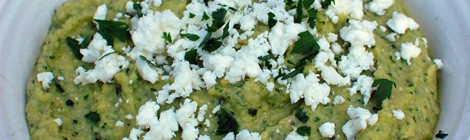 Roasted Zucchini Dip with Feta and Parsley