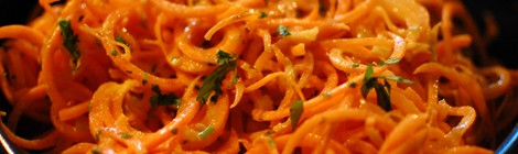 Carrot Salad with A Lemon Tahini Dressing