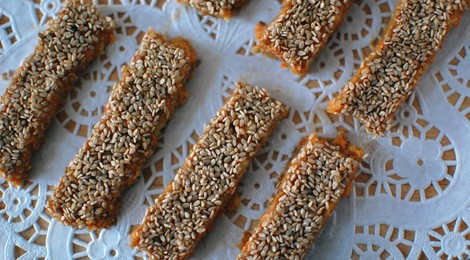 Carrot Sesame Energy Bars