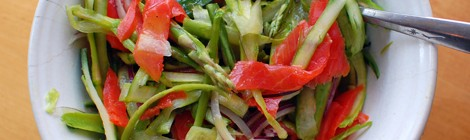 Shaved Asparagus Salad with Smoked Salmon and Capers