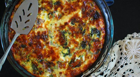 Egg Bake with Spinach and Mushrooms