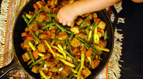 String Bean & Tempeh Stir-Fry