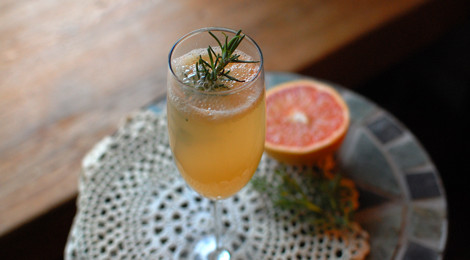 Rosemary Grapefruit Mimosa