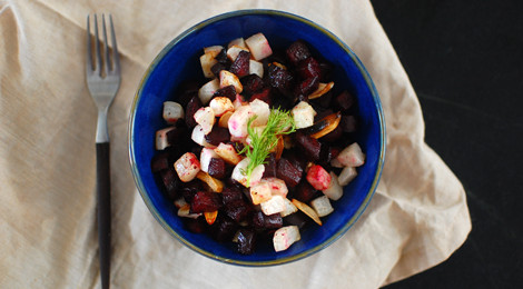 Roasted Beets and Turnips