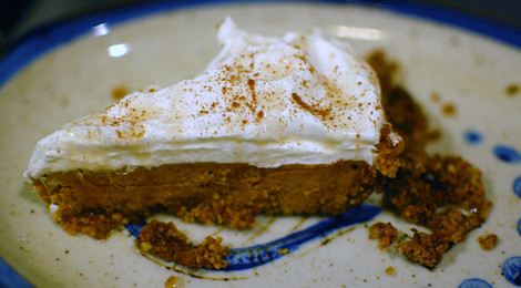 Sweet Potato Pie with An Almond Crust