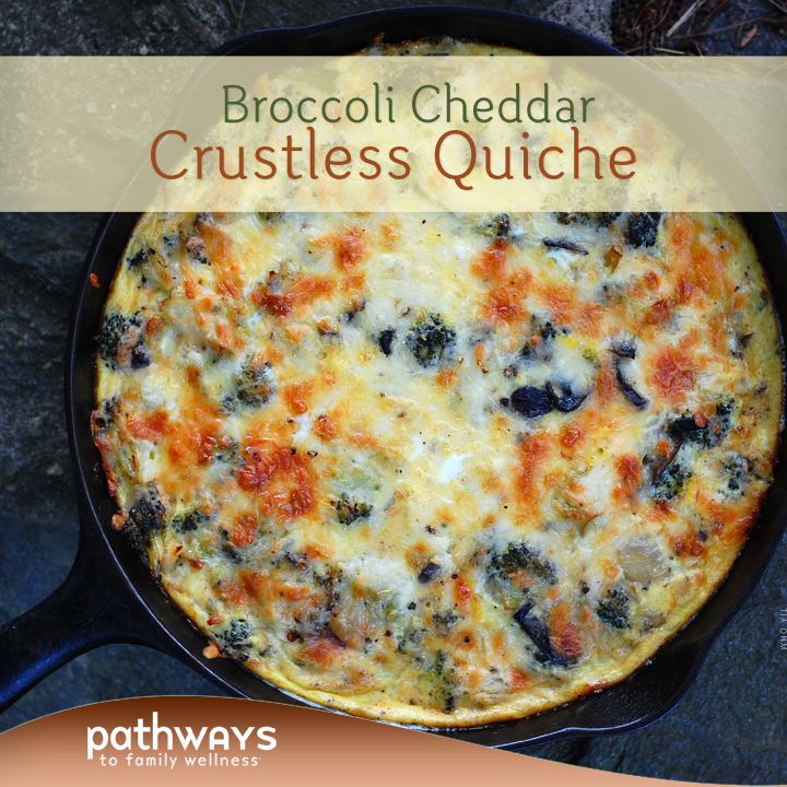 Broccoli Cheddar Crustless Quiche – Pathways Recipes