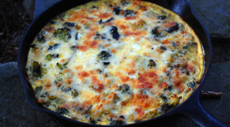 Broccoli Cheddar Crustless Quiche