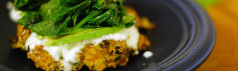 Sweet Potato Black Bean Burgers with a Cilantro Lime Yogurt Sauce
