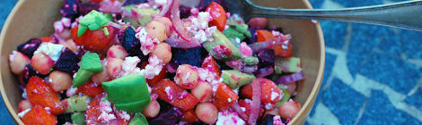 Roasted Beet and Carrot Chickpea Salad