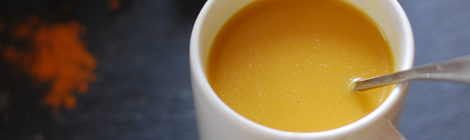 Turmeric Ginger Tea with Coconut Cream