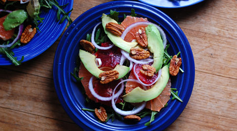 Citrus Arugula Salad with Avocado and Pecans