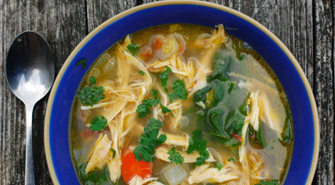 Rooster Vegetable Soup