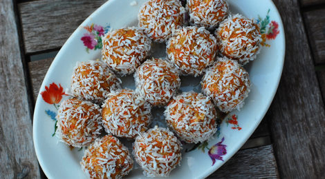 Coconut Carrot Bliss Balls